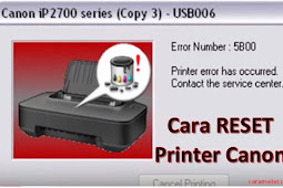 Tutorial Singkat Cara Reset Printer Canon Ip 2770 Blink 8x