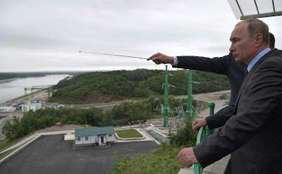 Russian President visitedNizhne-Bureiskaya Hydroelectric Power Plant.