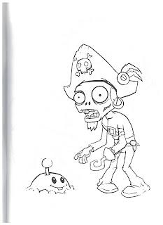 раскраска зомби для детей