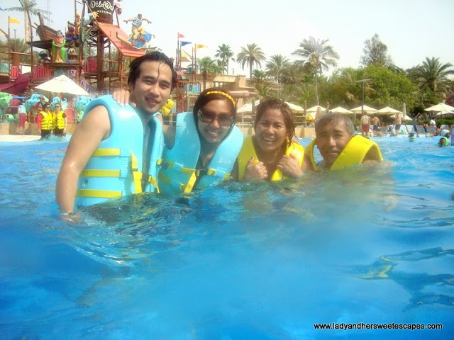 Family at Breaker's Bay, at Wild Wadi Dubai