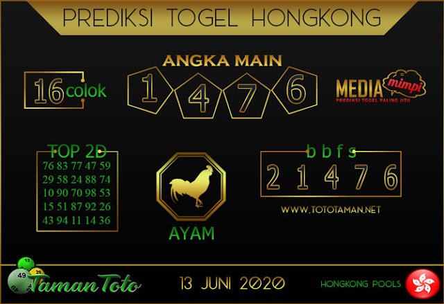 Prediksi Togel HONGKONG TAMAN TOTO 13 JUNI 2020