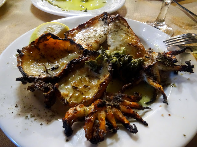 Grilled cuttlefish Amvrosios fish taverna in Preveza