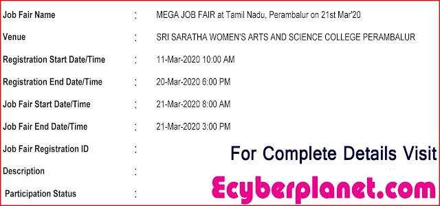 Perambalur Job Fair