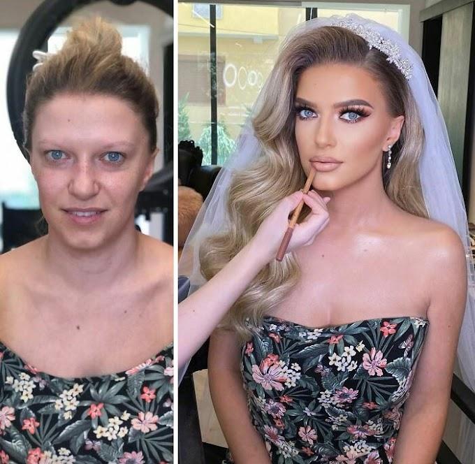 Novias antes y despues del maquillaje... pura y dura MAGIA