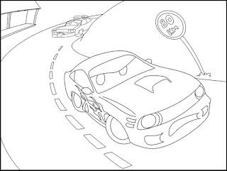 Desenho carro para imprimir e colorir