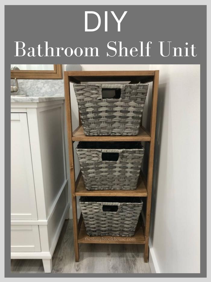 DIY Bathroom Shelf Unit
