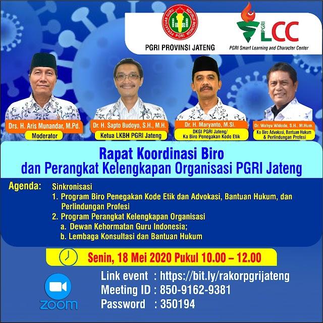 Rapat Koordinasi Biro dan Perangkat Kelengkapan Organisasi PGRI Jateng