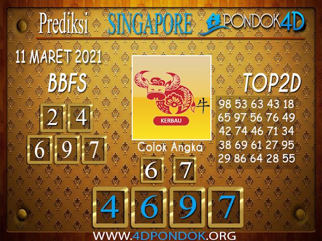 Prediksi Togel SINGAPORE PONDOK4D 11 APRIL 2021