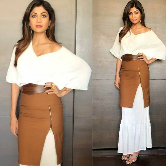 Shilpa Shetty in Esse Clothing and Misho Designs