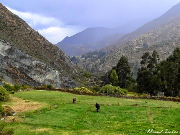 Huancaya, Hospedaje Brisas de Mayo. Vista dalla camera