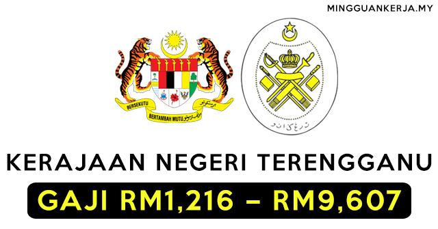 Kerajaan Negeri Terengganu Buka Jawatan Kosong Terkini / PMR / PT3 Layak Memohon / GAJI RM1,216 - RM9,607