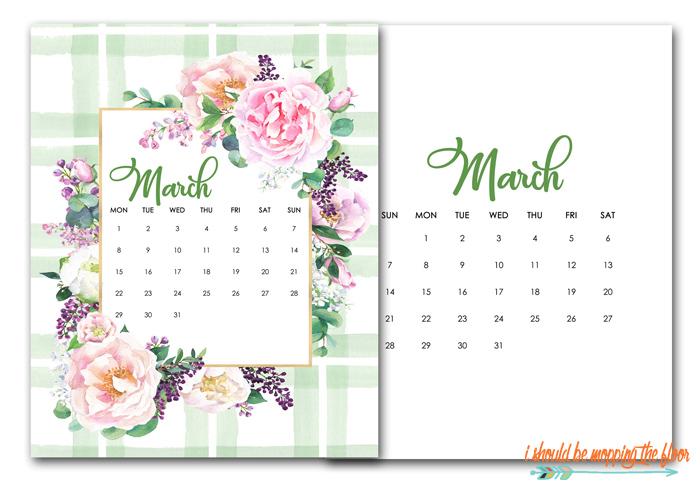 March Downloadable Calendar
