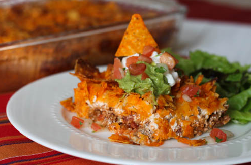 TACO BAKE #vegetarian #vegan #delicious #taco #lunch