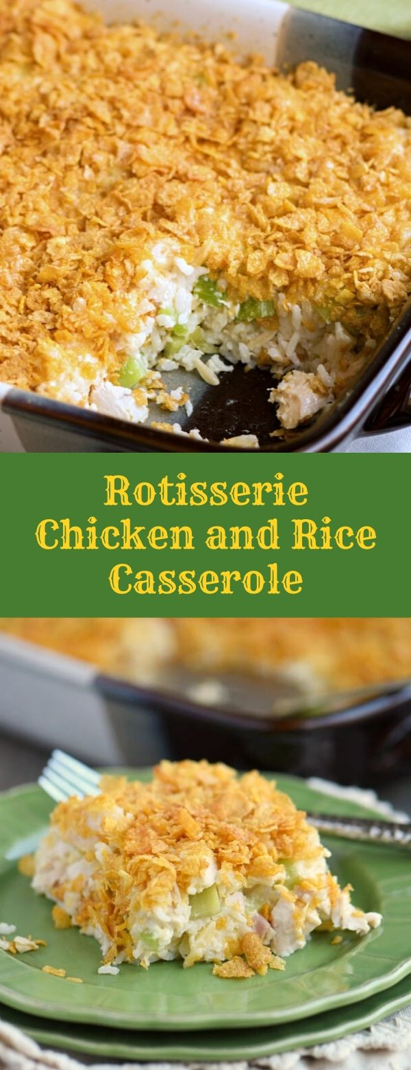 Rotisserie Chicken and Rice Casserole
