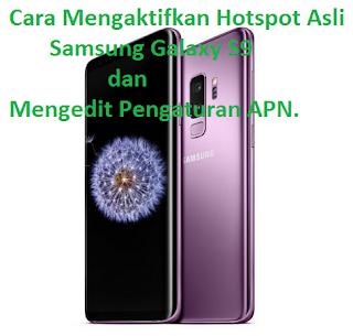 Cara Mengaktifkan Hotspot Asli Samsung Galaxy S9 dan Mengedit Pengaturan APN. begini cara terbarunya