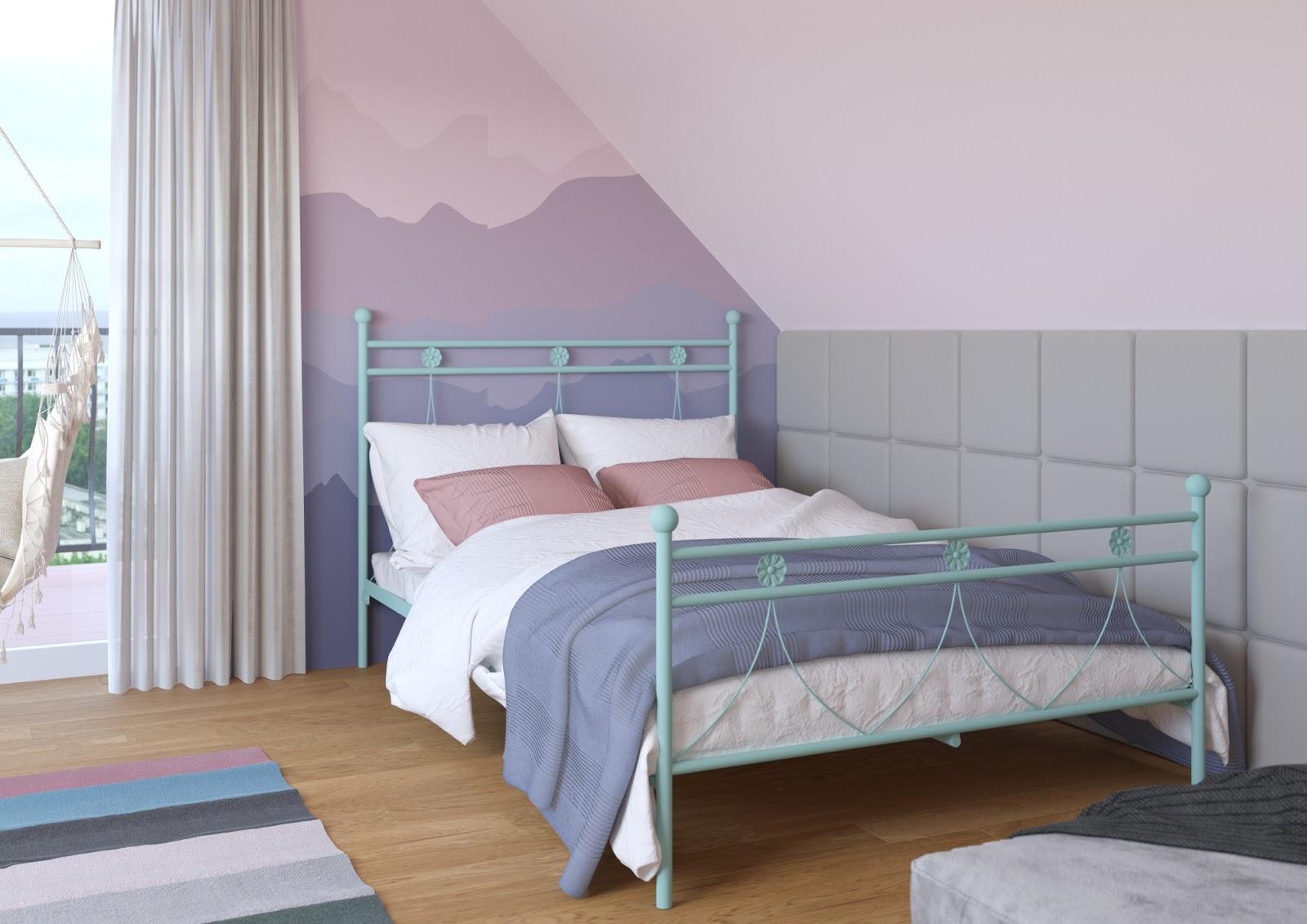 Łóżko metalowe wzór 37 (100-140 cm)
