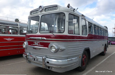 Retro bus exhibition at Tallin´s harbour