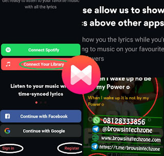 how to play music with lyrics using musixmatch