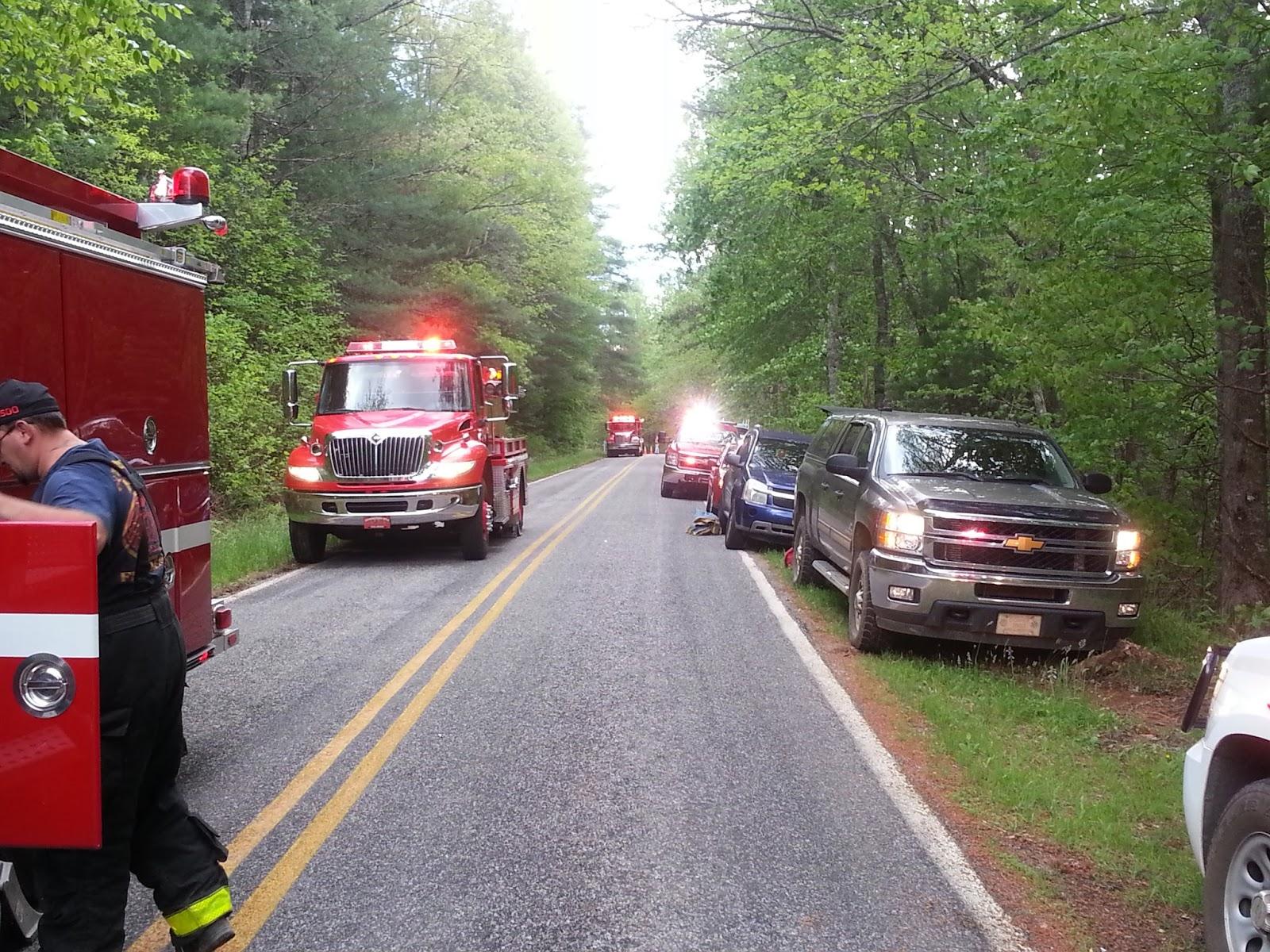 Fire apparatus line Rose Creek Road
