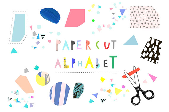 paper cut alphabet for kids by Lera Efremova