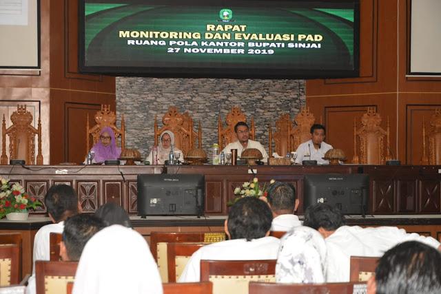 Bupati Sinjai Pimpin Rapat Monitoring dan Evaluasi PAD