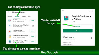 Uninstall Android App from Play Store