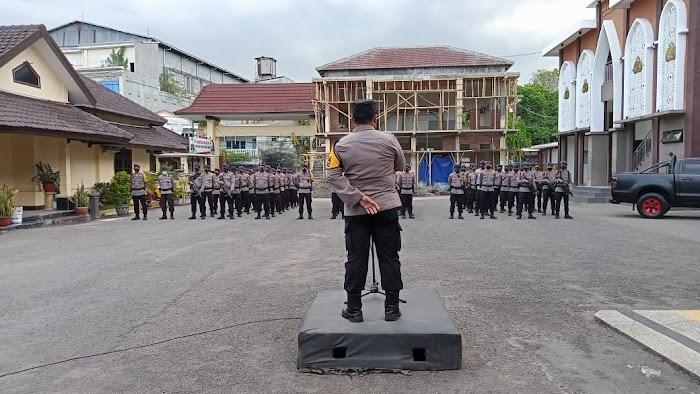 Antisipasi Takbir Keliling, Polres Jember Terjunkan Pasukan Brimob
