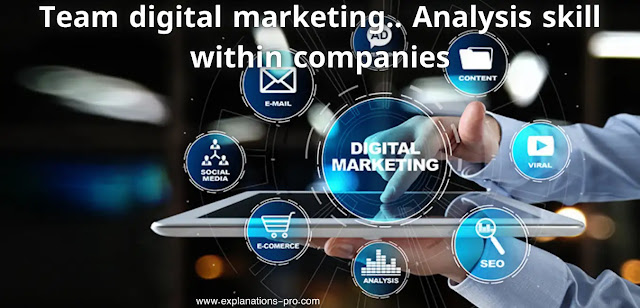 Team digital marketing.. Analysis skill within companies