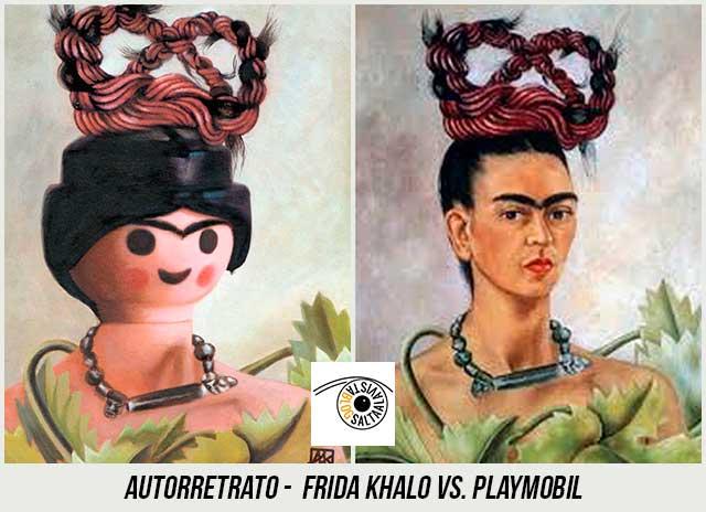 Cuadro-Autorretrato-de-Frida-Khalo-Hecho-con-Playmobil