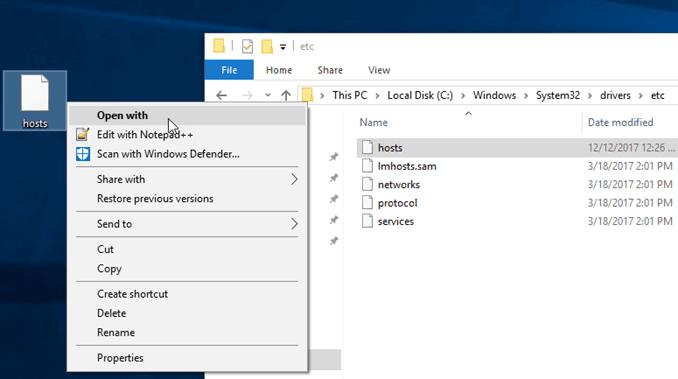 كيفية تحرير ملف Hosts في Windows 10