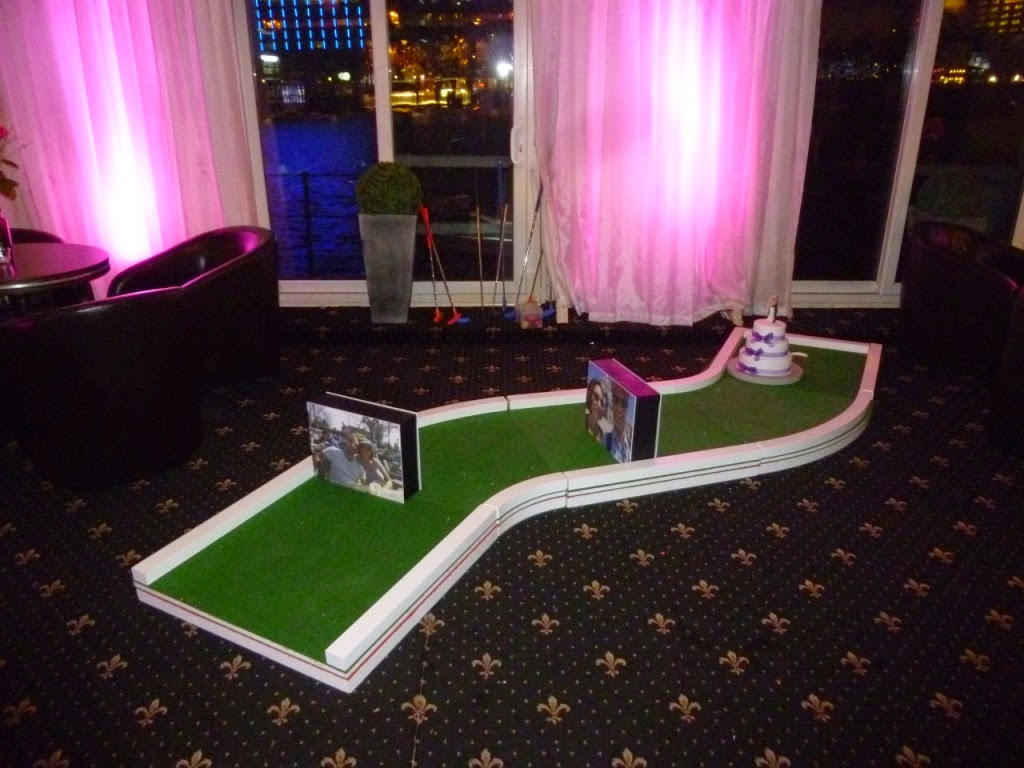 UrbanCrazy minigolf course at a wedding reception in London