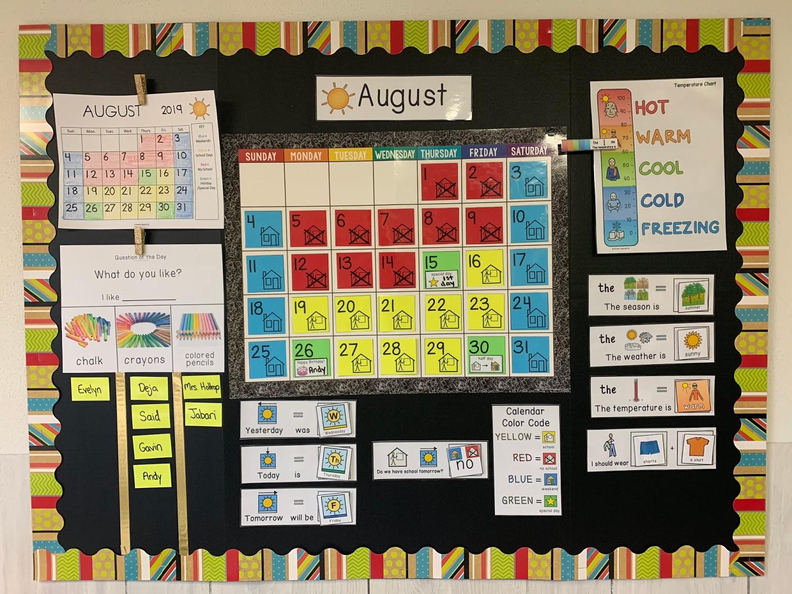 Color Your Classroom Calendar