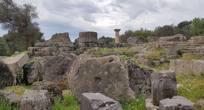 Zeustempel Ausgrabung Olympia
