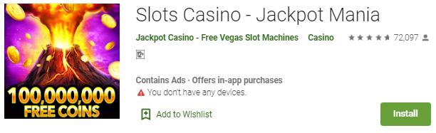 Mainkan Sekarang Juga Game Slots Casino - Jackpot Mania