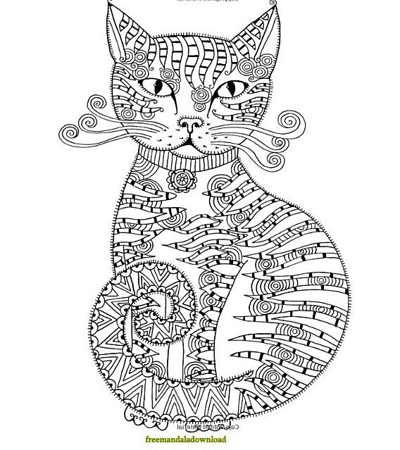 √ malvorlagen katzen mandala | ausmalbilder katzen