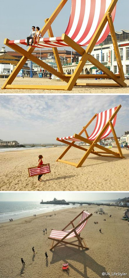 Have You Seen The Bournemouth Huge Deck Chair On Beach
