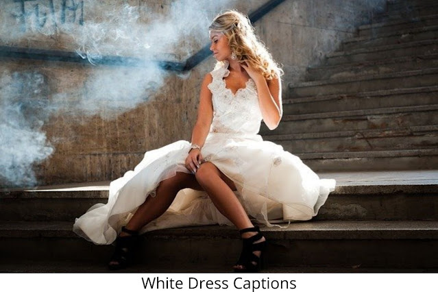 151+ White Dress Captions For Instagram [ 2021 ] Also White Suit Quotes