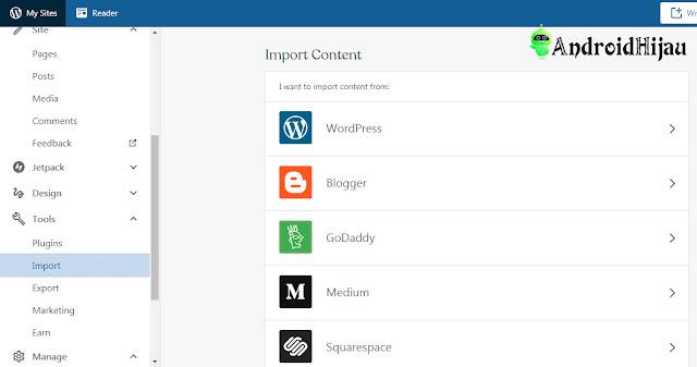 jalankan alat pengimporan dari blogspot ke wordpress
