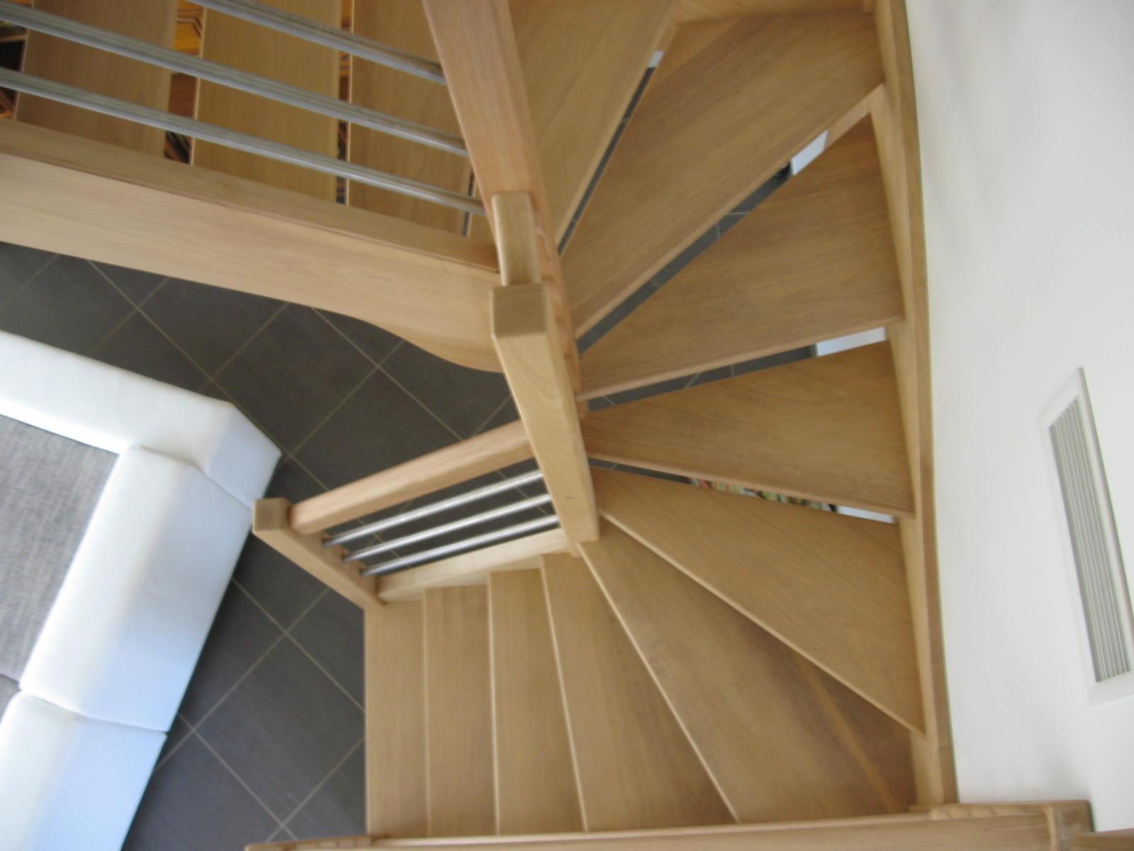 escalier deux quart tournant bois. Black Bedroom Furniture Sets. Home Design Ideas