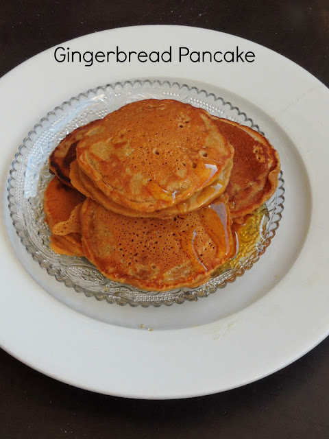 Eggless Gingerbread Pancakes