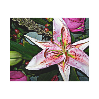 Tiger lily canvas art