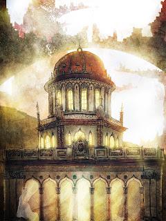 Святилище Баба. Изображение художника.