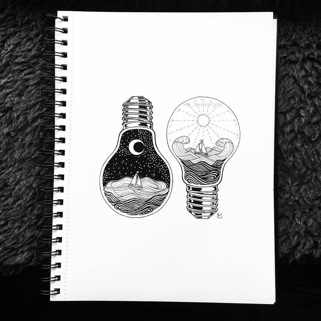 01-Day-Light-Night-Light-Maartje-Ink-Drawings-Mostly-Enclosed-www-designstack-co