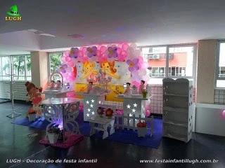 Decoração mesa de aniversário infantil tema Bailarinas, festa feminina - Barra - RJ