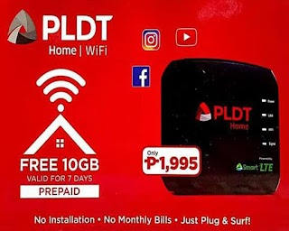 PLDT now offers HOME Prepaid WIFI for only P1,995 with Free 10GB Data