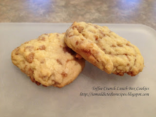 Hubby's fave's! Toffee Crunch Lunch Box Cookies