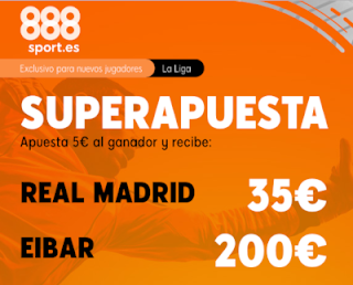 Superapuesta 888sport liga: Real Madrid v Eibar 13-3-2020