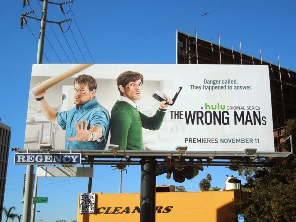 The Wrong Mans Hulu series premiere billboard