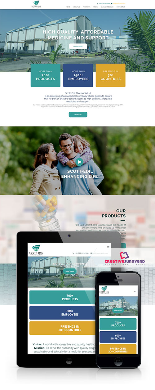Pharmaceutical website design