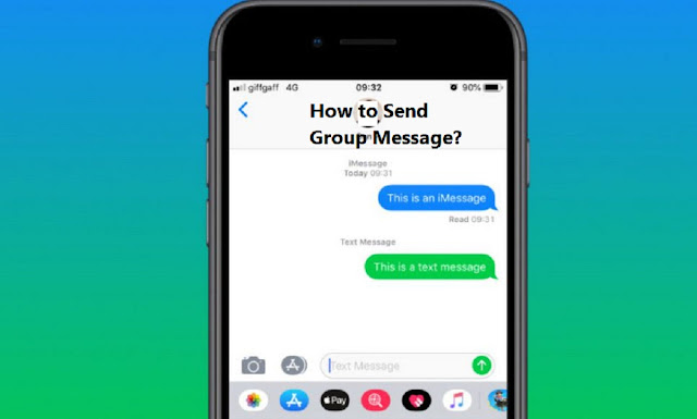 How to send group message iPhone